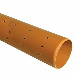6.0m-110mm Underground Drain Pipe Perforated Plain Ended