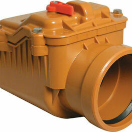110mm Underground Non-return Valve - single flap